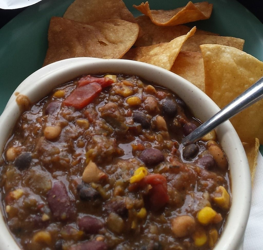 """Photo of Cyber Cafe West  by <a href=""""/members/profile/American%20Vegan"""">American Vegan</a> <br/>Vegan chili, tofu bites, tater tots <br/> December 5, 2016  - <a href='/contact/abuse/image/17159/209435'>Report</a>"""