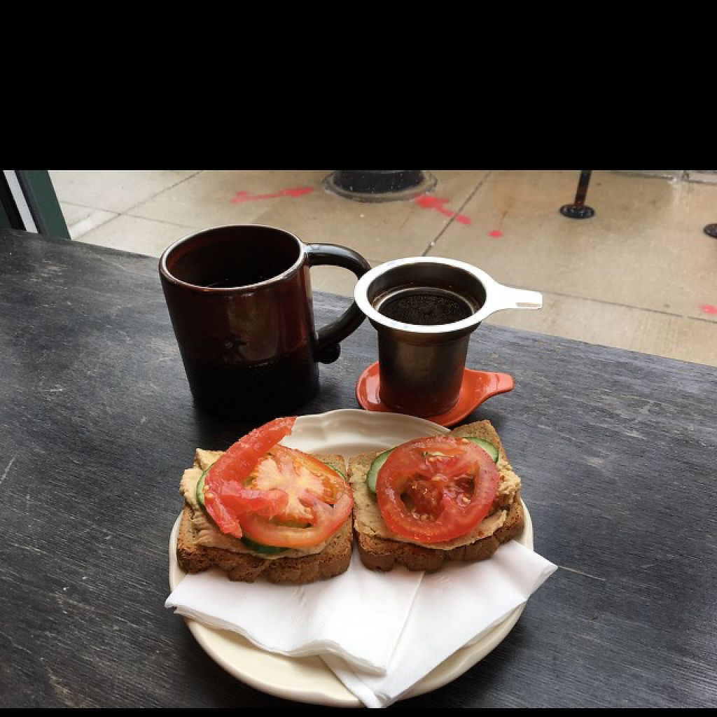 """Photo of Delicious Cafe  by <a href=""""/members/profile/JJones315"""">JJones315</a> <br/>Hummus in GF Toadt and tea <br/> April 30, 2017  - <a href='/contact/abuse/image/17202/254194'>Report</a>"""