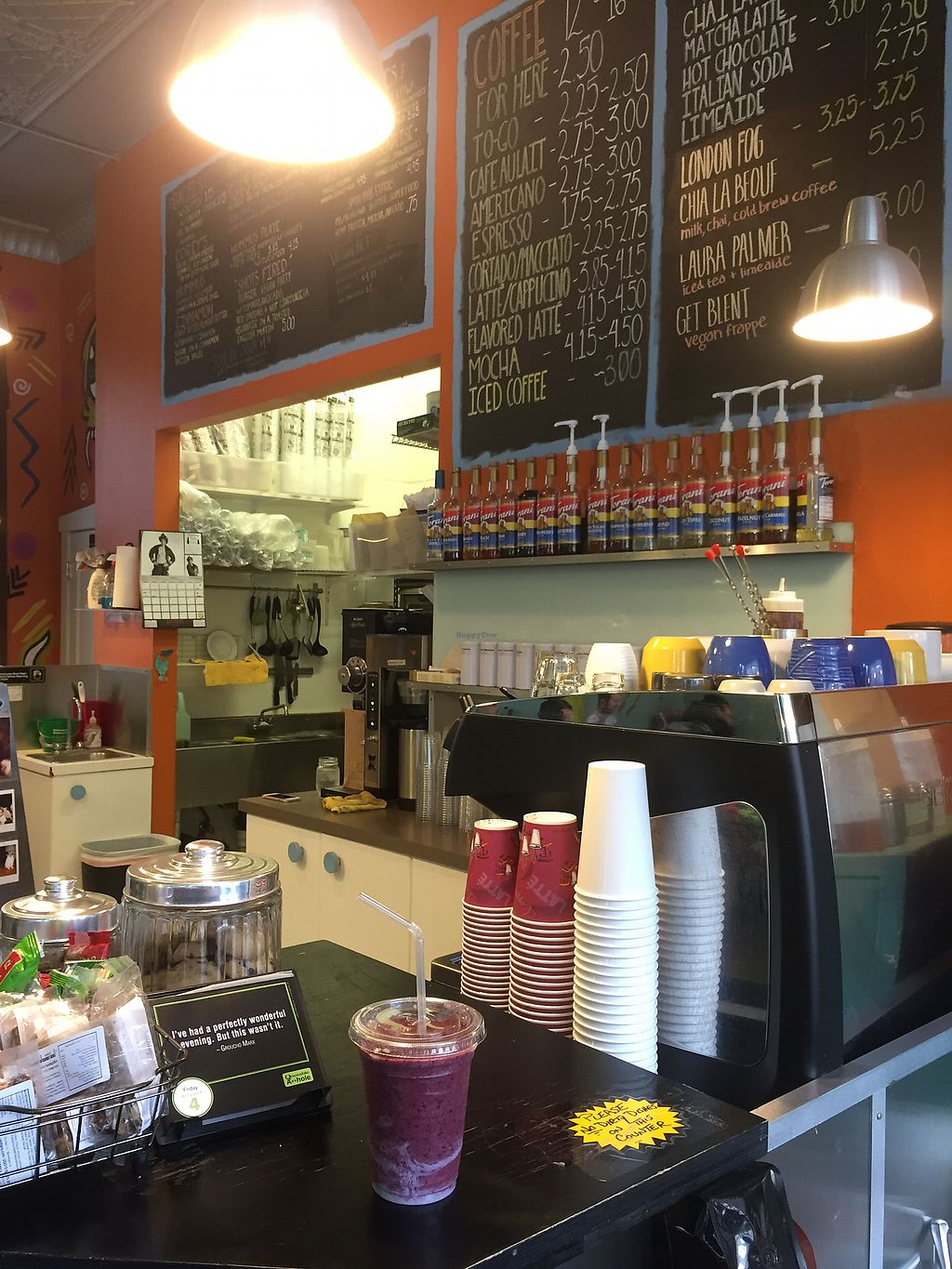 """Photo of Delicious Cafe  by <a href=""""/members/profile/happycowgirl"""">happycowgirl</a> <br/>purple cow smoothie is great!  <br/> August 4, 2017  - <a href='/contact/abuse/image/17202/288746'>Report</a>"""