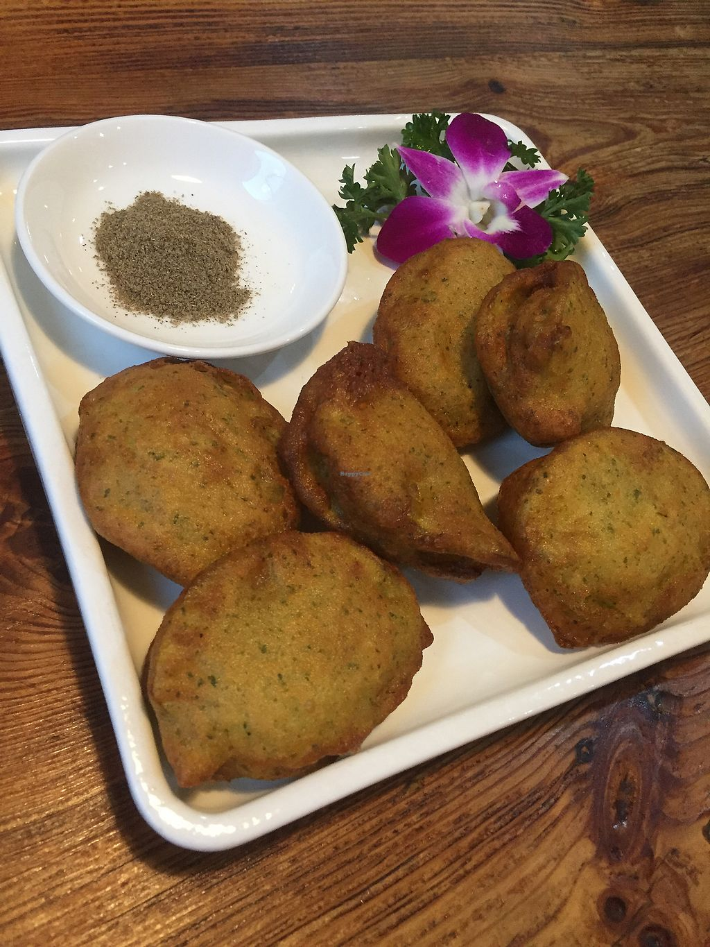 """Photo of Ji Xiang Cao - Lucky Zen & Veg Restaurant  by <a href=""""/members/profile/H2OAddict"""">H2OAddict</a> <br/>Fried zucchini pancakes with mushroom inside <br/> August 29, 2017  - <a href='/contact/abuse/image/17209/298576'>Report</a>"""