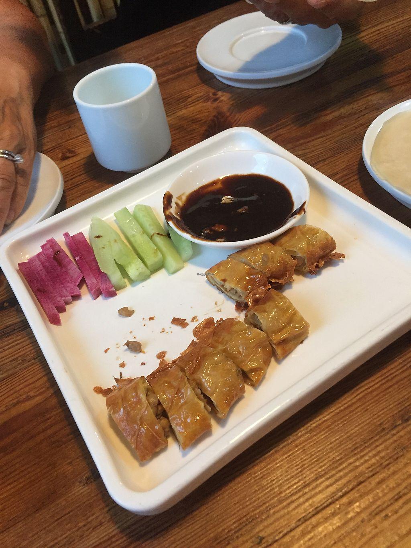 "Photo of Ji Xiang Cao - Lucky Zen & Veg Restaurant  by <a href=""/members/profile/H2OAddict"">H2OAddict</a> <br/>Half eaten Beijing ""duck."" <br/> August 29, 2017  - <a href='/contact/abuse/image/17209/298577'>Report</a>"