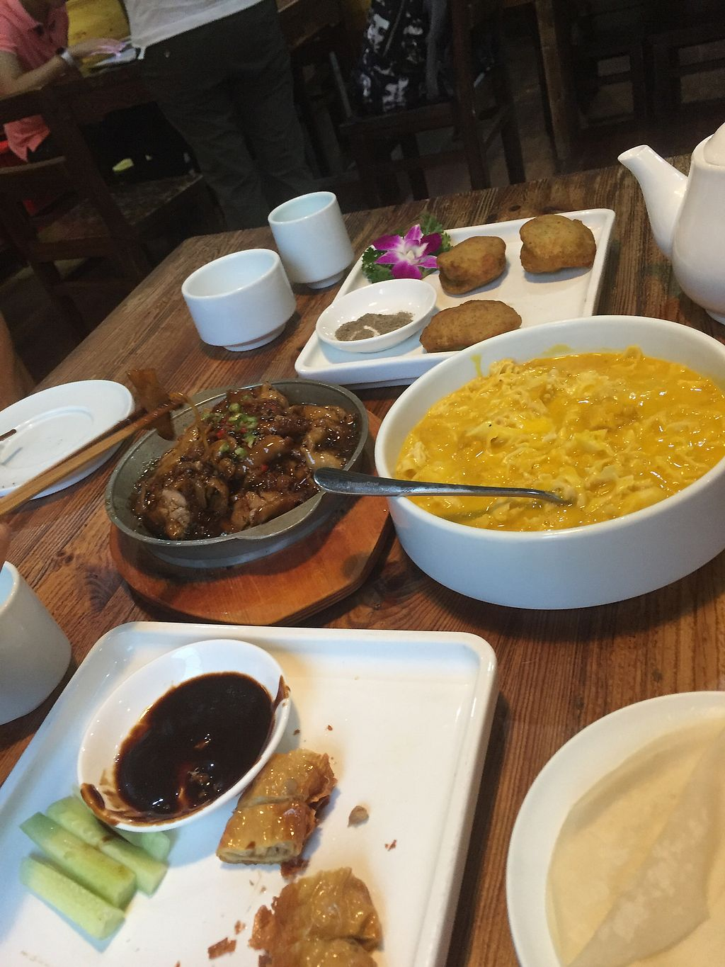 """Photo of Ji Xiang Cao - Lucky Zen & Veg Restaurant  by <a href=""""/members/profile/H2OAddict"""">H2OAddict</a> <br/>A feast <br/> August 29, 2017  - <a href='/contact/abuse/image/17209/298579'>Report</a>"""