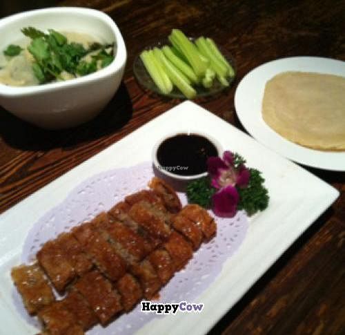 "Photo of Ji Xiang Cao - Lucky Zen & Veg Restaurant  by <a href=""/members/profile/blaim"">blaim</a> <br/>Vegan Peking duck (crispy mushroom) <br/> November 25, 2013  - <a href='/contact/abuse/image/17209/59059'>Report</a>"