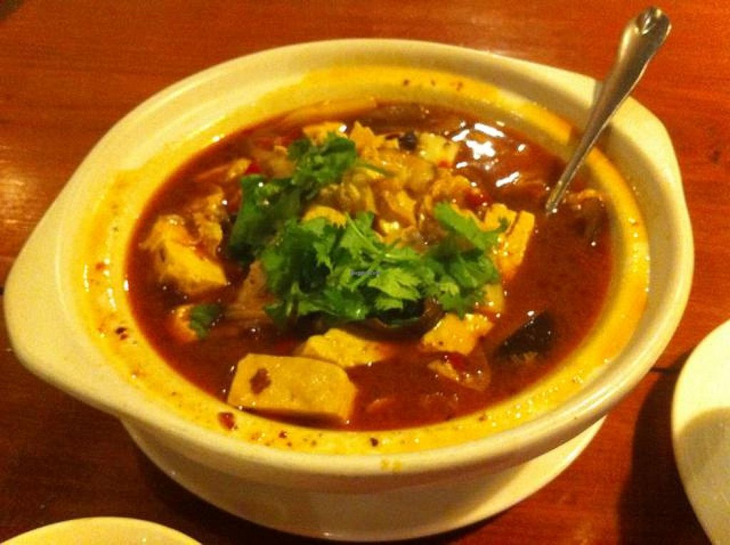 """Photo of Ji Xiang Cao - Lucky Zen & Veg Restaurant  by <a href=""""/members/profile/Jrosworld"""">Jrosworld</a> <br/>Savoury & spicy 'dofu' & mushroom <br/> October 4, 2014  - <a href='/contact/abuse/image/17209/82122'>Report</a>"""