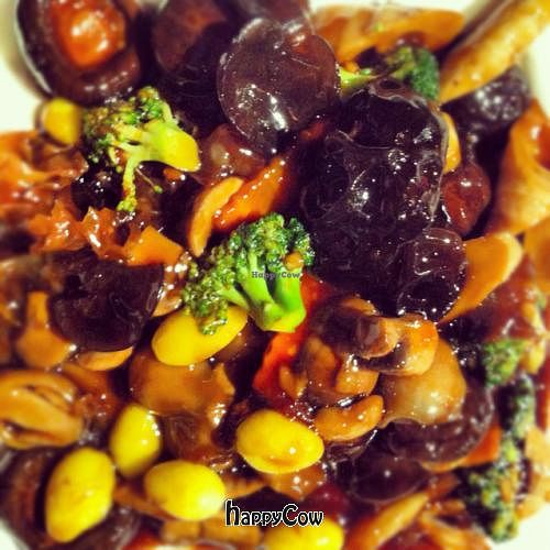 """Photo of Gong De Lin - Godly - Wukang Rd  by <a href=""""/members/profile/Peacelovevegan"""">Peacelovevegan</a> <br/>Mushroom plate! <br/> August 31, 2012  - <a href='/contact/abuse/image/17210/37201'>Report</a>"""