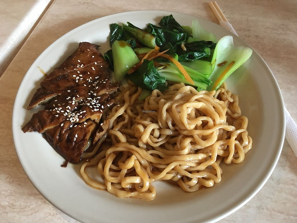 """Photo of Tea Master  by <a href=""""/members/profile/jojoinbrighton"""">jojoinbrighton</a> <br/>Mock duck noodles (aka perfection!) <br/> August 6, 2017  - <a href='/contact/abuse/image/17221/289681'>Report</a>"""