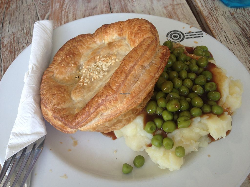 """Photo of Funky Pies  by <a href=""""/members/profile/NirvanaRoseWilliams"""">NirvanaRoseWilliams</a> <br/>Chic and cheeze pie with mash and peas  <br/> May 22, 2016  - <a href='/contact/abuse/image/17244/150410'>Report</a>"""