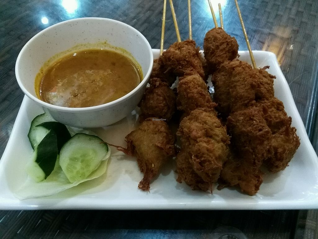 """Photo of Xing Hua Vegetarian - Albert Mall  by <a href=""""/members/profile/uradlham"""">uradlham</a> <br/>Satay made mostly from soy and mushrooms <br/> October 3, 2017  - <a href='/contact/abuse/image/17289/311345'>Report</a>"""