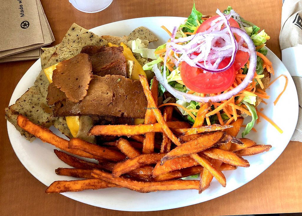 """Photo of Native Foods - Westwood  by <a href=""""/members/profile/Joeybrezinski"""">Joeybrezinski</a> <br/>Oklahoma Burger  <br/> May 7, 2018  - <a href='/contact/abuse/image/1728/396559'>Report</a>"""