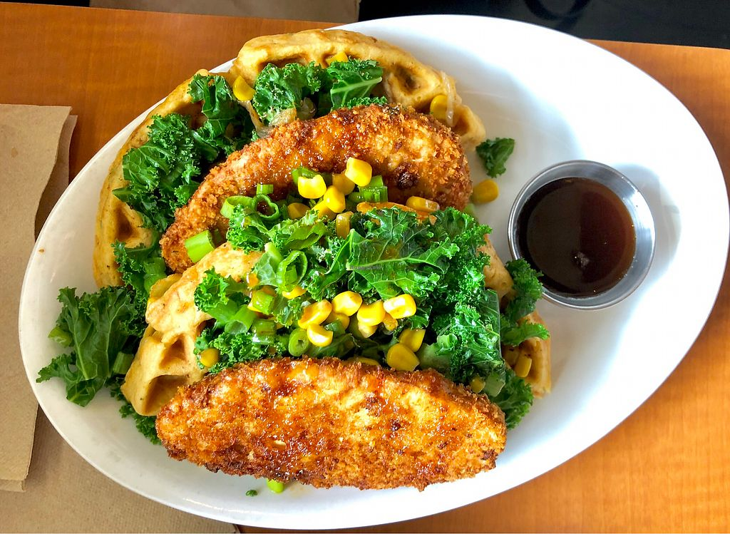 """Photo of Native Foods - Westwood  by <a href=""""/members/profile/Joeybrezinski"""">Joeybrezinski</a> <br/>Chicken and waffles <br/> May 7, 2018  - <a href='/contact/abuse/image/1728/396560'>Report</a>"""