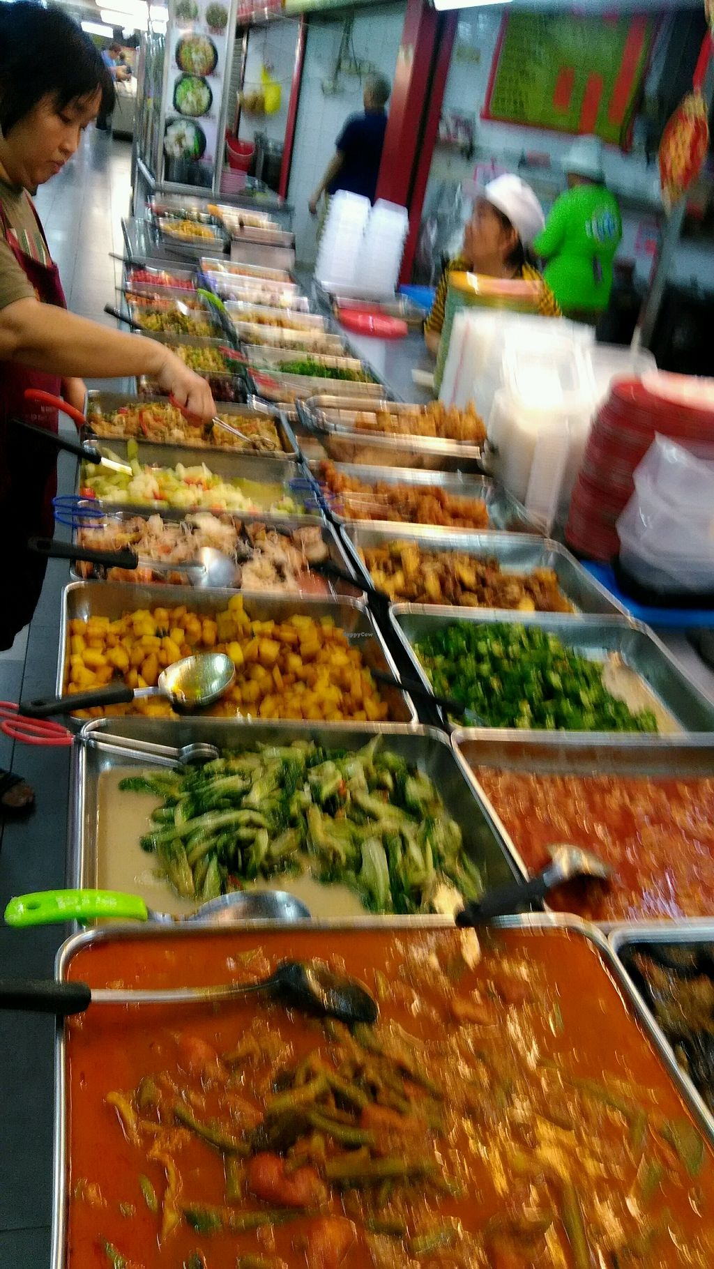 """Photo of Le Tian Vegetarian Stall  by <a href=""""/members/profile/PeterRollett"""">PeterRollett</a> <br/>today 11th April 2018 <br/> April 11, 2018  - <a href='/contact/abuse/image/17293/383641'>Report</a>"""