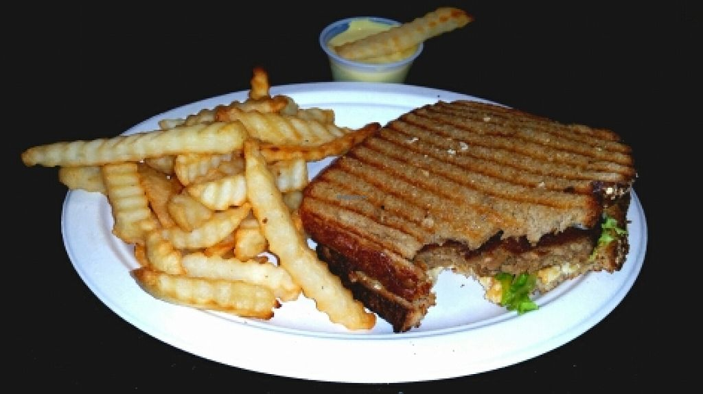 """Photo of Loving Hut - San Jose  by <a href=""""/members/profile/MizSharon"""">MizSharon</a> <br/>Patty Melt and Fries  <br/> January 29, 2016  - <a href='/contact/abuse/image/17309/134108'>Report</a>"""