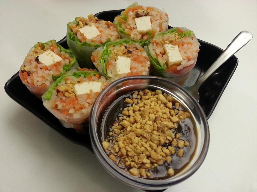 "Photo of Loving Hut - Glendale  by <a href=""/members/profile/radtechg9"">radtechg9</a> <br/>spring rolls <br/> April 26, 2014  - <a href='/contact/abuse/image/17383/68683'>Report</a>"