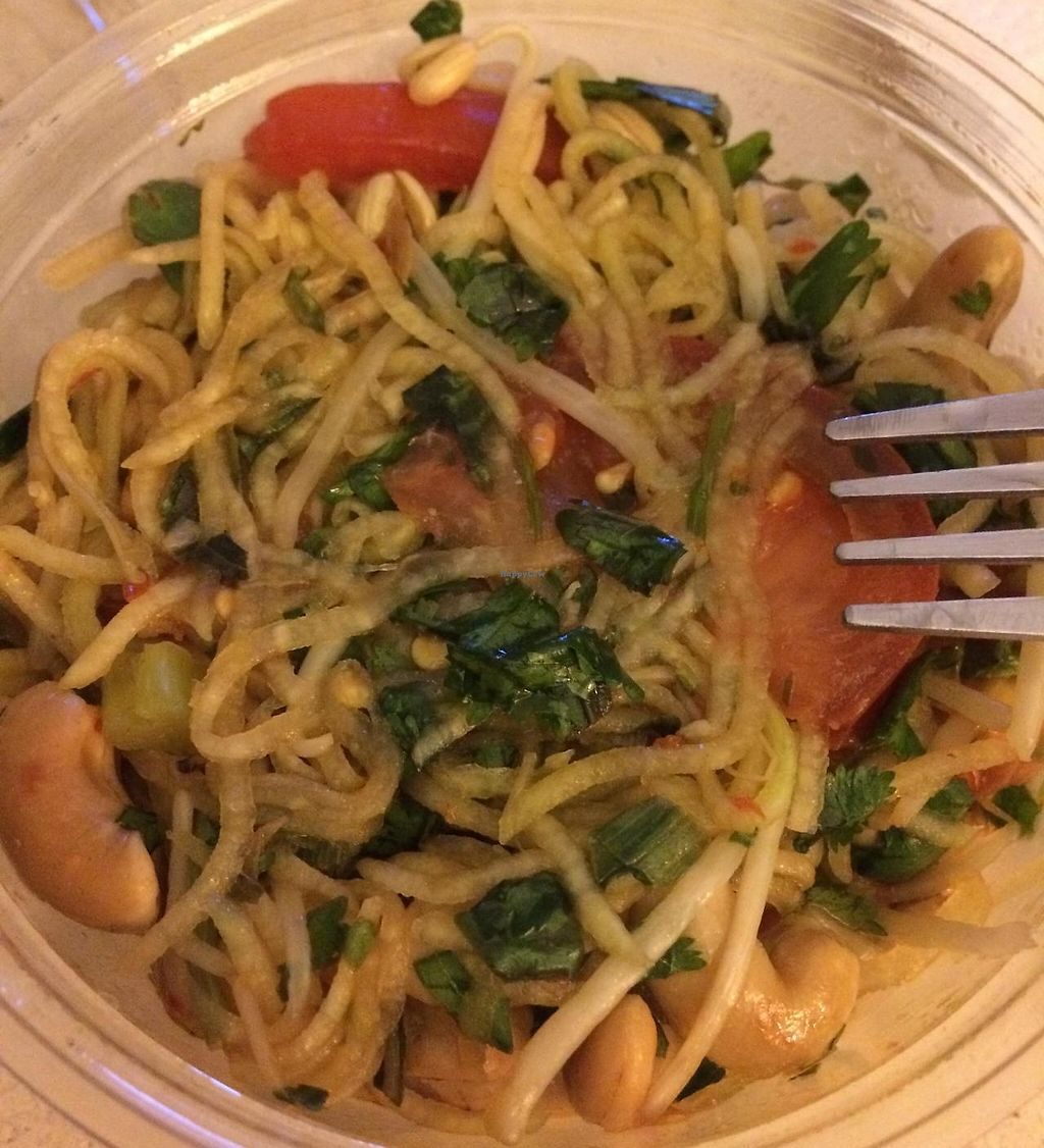 Photo of Island Naturals Market  by krazykat <br/>Vegan gluten free spicy Thai papaya salad with cashew <br/> April 17, 2015  - <a href='/contact/abuse/image/17403/199400'>Report</a>