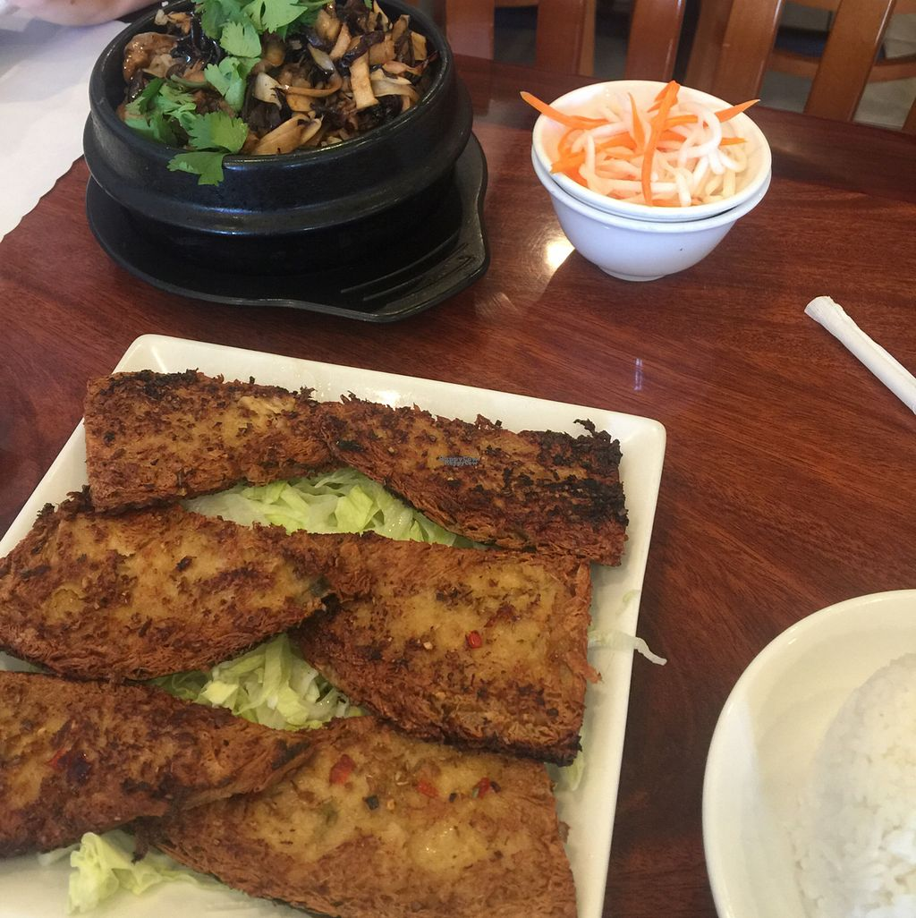 """Photo of Hoa Sen Vegetarian Restaurant  by <a href=""""/members/profile/ReneeNButtercup"""">ReneeNButtercup</a> <br/>fried fish and mushroom rice in clay pot <br/> October 7, 2016  - <a href='/contact/abuse/image/17445/180335'>Report</a>"""