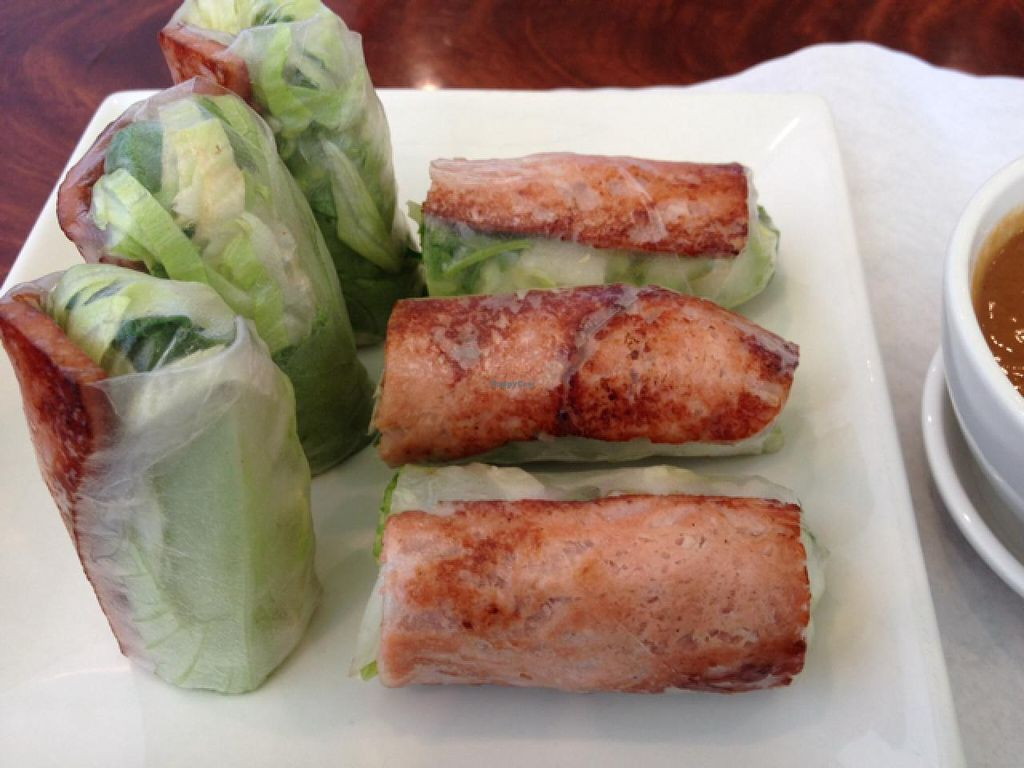 """Photo of Hoa Sen Vegetarian Restaurant  by <a href=""""/members/profile/Freesoring"""">Freesoring</a> <br/>best 'pork' sping rolls!  packed with flavor and texture!  Addictived to these! <br/> January 13, 2014  - <a href='/contact/abuse/image/17445/62443'>Report</a>"""