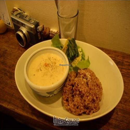 """Photo of Mone  by <a href=""""/members/profile/EARTHPEACE"""">EARTHPEACE</a> <br/>One of Lunch sets of 'Mone'. 'Cashew nuts cream stew set '(with salad 1000yen) <br/> May 4, 2009  - <a href='/contact/abuse/image/17457/1865'>Report</a>"""