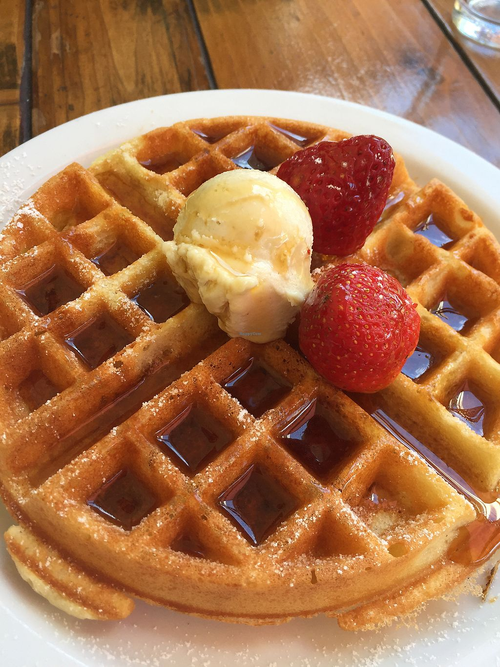 "Photo of SunCafe  by <a href=""/members/profile/heathenvegan"">heathenvegan</a> <br/>Belgian Waffle  <br/> April 8, 2018  - <a href='/contact/abuse/image/17465/382167'>Report</a>"