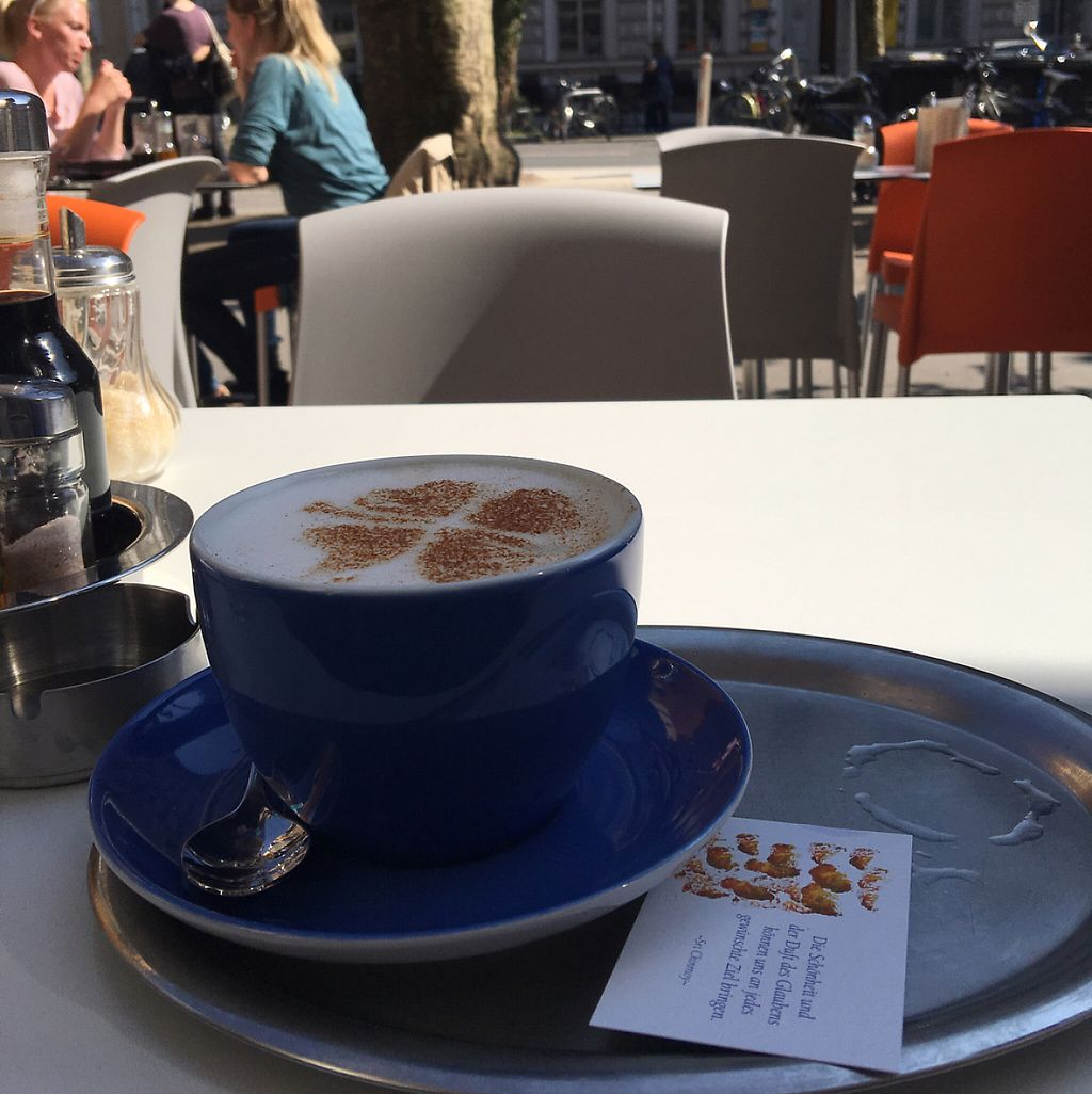 """Photo of The Heart of Joy Cafe  by <a href=""""/members/profile/Alyse_xo"""">Alyse_xo</a> <br/>chai latte outside  <br/> April 20, 2017  - <a href='/contact/abuse/image/17506/250251'>Report</a>"""