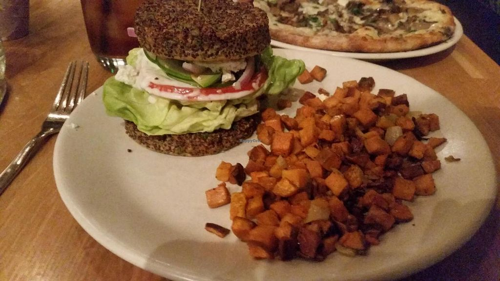 """Photo of True Food Kitchen  by <a href=""""/members/profile/Imriela"""">Imriela</a> <br/>Inside Out burger and sweet potato thingies <br/> August 4, 2014  - <a href='/contact/abuse/image/17535/76058'>Report</a>"""
