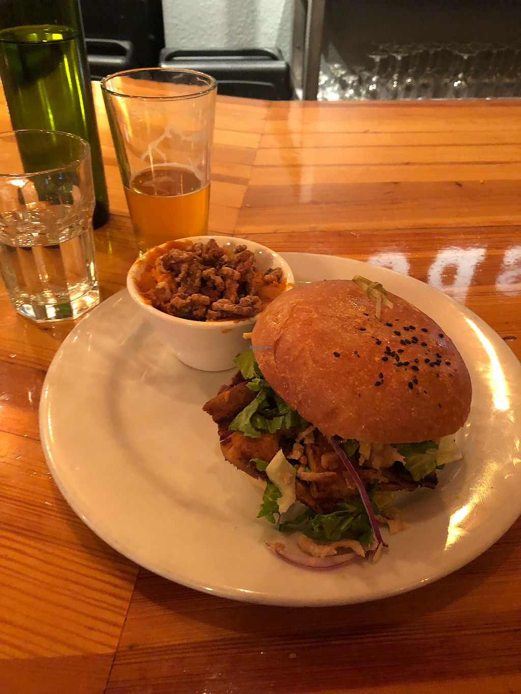 """Photo of Watercourse Foods  by <a href=""""/members/profile/ehjay"""">ehjay</a> <br/>Atlas burger and candied yams  <br/> March 29, 2018  - <a href='/contact/abuse/image/1754/377603'>Report</a>"""