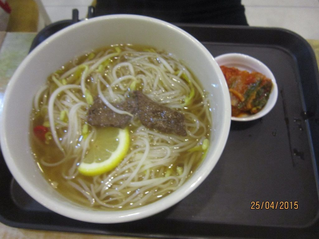 """Photo of CLOSED: Loving Hut - Yonsei University  by <a href=""""/members/profile/Trambau"""">Trambau</a> <br/>Serves Vietnamese vegan beef Pho (with or without herbds of your choice) <br/> January 13, 2018  - <a href='/contact/abuse/image/17566/345977'>Report</a>"""