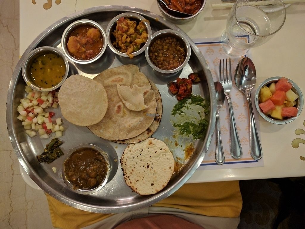"Photo of Samrat Veg Restaurant  by <a href=""/members/profile/Floyd205"">Floyd205</a> <br/>Vegan Thali <br/> December 27, 2016  - <a href='/contact/abuse/image/17576/205323'>Report</a>"