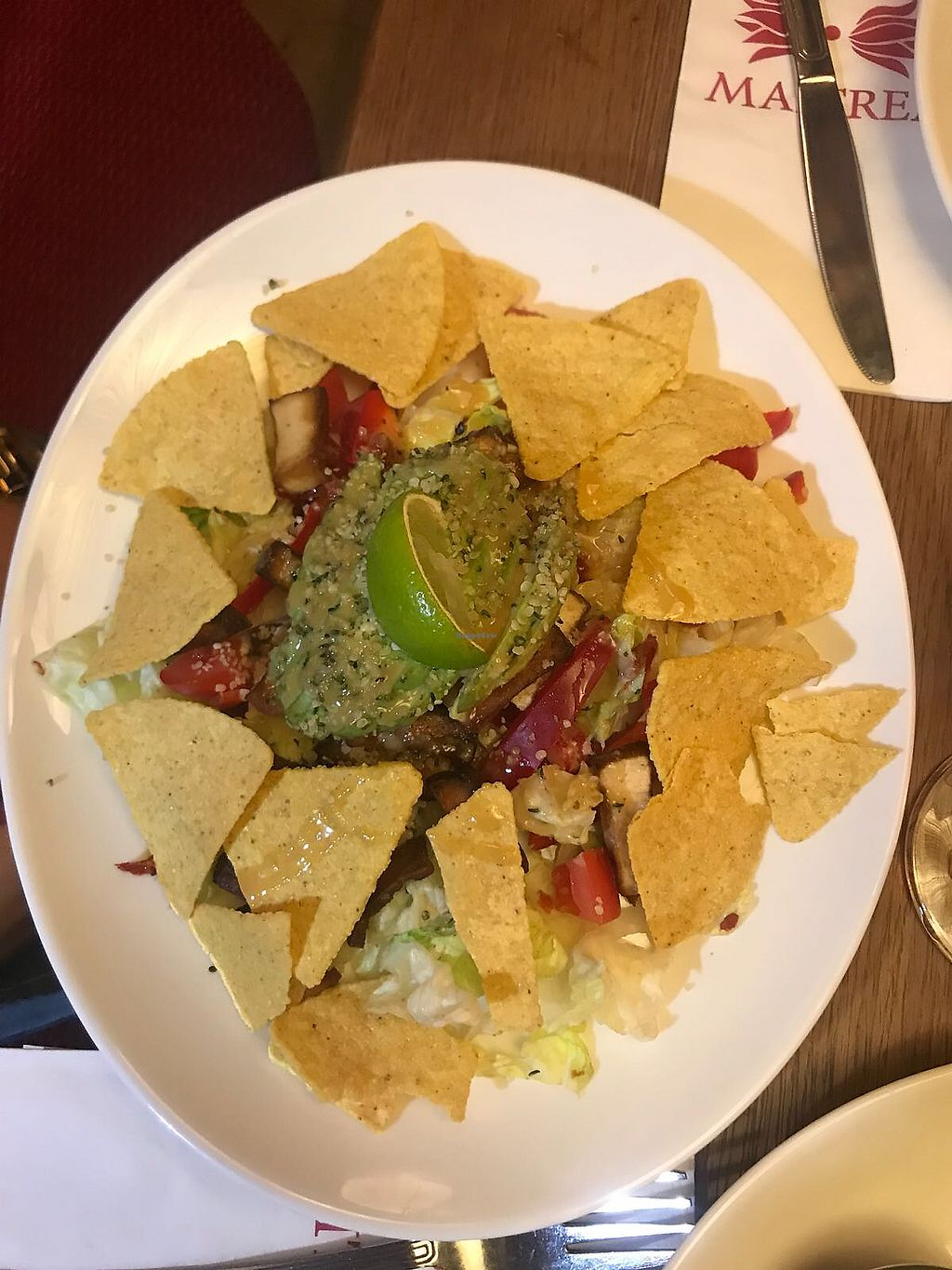 """Photo of Maitrea  by <a href=""""/members/profile/VeraP.V."""">VeraP.V.</a> <br/>Great salad with tofu <br/> April 7, 2018  - <a href='/contact/abuse/image/17585/381920'>Report</a>"""