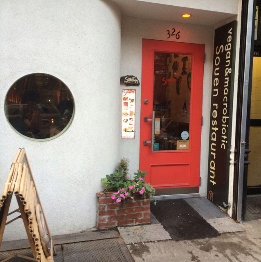 "Photo of Souen - East Village  by <a href=""/members/profile/veggiehobbit"">veggiehobbit</a> <br/>storefront  <br/> August 21, 2015  - <a href='/contact/abuse/image/17617/114592'>Report</a>"