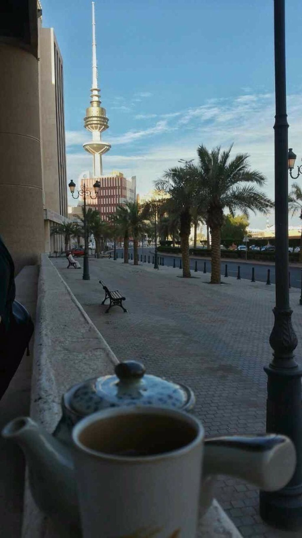 """Photo of Ginger Restaurant  by <a href=""""/members/profile/Yasumi"""">Yasumi</a> <br/>While there are no outdoor tables yet, you can still enjoy a view of Kuwait City after your meal on public benches (they're kind enough to bring us our tea outside)  <br/> January 14, 2017  - <a href='/contact/abuse/image/17673/211852'>Report</a>"""