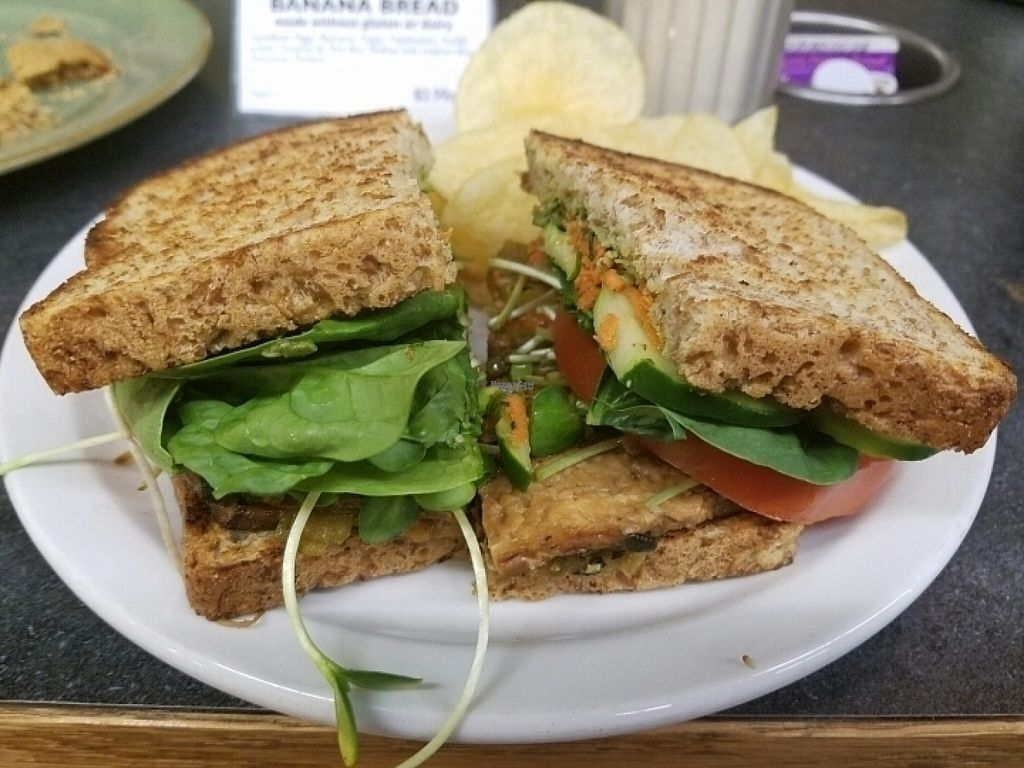 """Photo of Durango Natural Foods  by <a href=""""/members/profile/kenvegan"""">kenvegan</a> <br/>Garbage sandwich with tempeh bacon <br/> August 16, 2016  - <a href='/contact/abuse/image/1768/169249'>Report</a>"""
