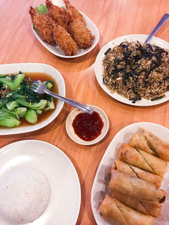 "Photo of Jiu Jiu Fu  by <a href=""/members/profile/EllenVanGool"">EllenVanGool</a> <br/>Fried chicken, spring rolls and fried nori rice <br/> July 25, 2017  - <a href='/contact/abuse/image/17692/284536'>Report</a>"