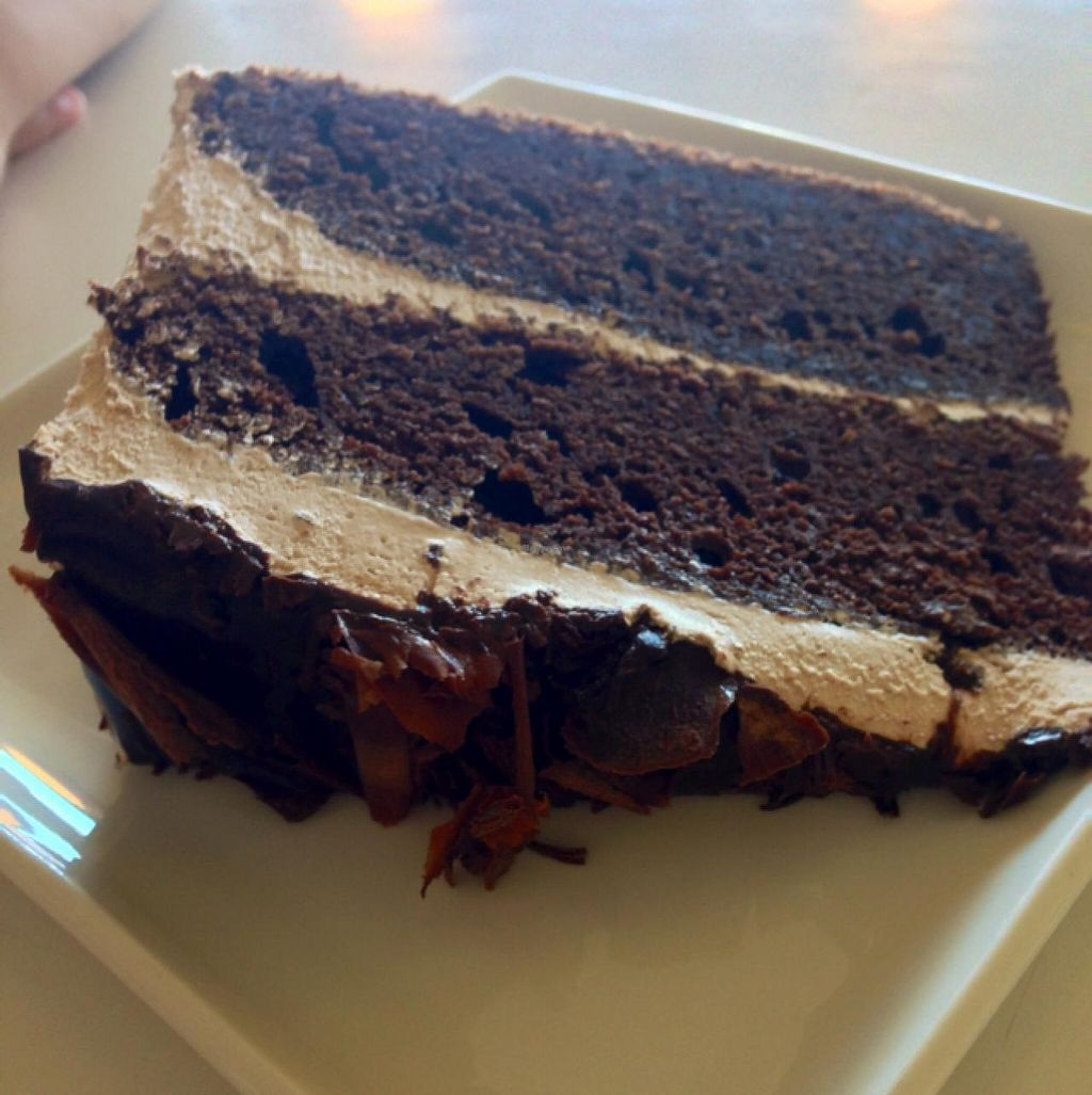 Photo of Loving Hut - North Park Uptown  by claya <br/>chocolate cake  <br/> February 6, 2014  - <a href='/contact/abuse/image/17706/63834'>Report</a>