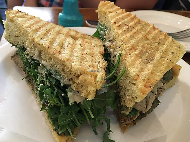 """Photo of Peacefood Cafe - Uptown  by <a href=""""/members/profile/slo0go"""">slo0go</a> <br/>seitan medallion sandwich <br/> June 21, 2017  - <a href='/contact/abuse/image/17713/271794'>Report</a>"""