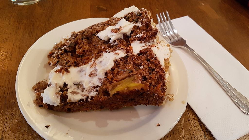 """Photo of Peacefood Cafe - Uptown  by <a href=""""/members/profile/JonJon"""">JonJon</a> <br/>Carrot cake <br/> July 28, 2017  - <a href='/contact/abuse/image/17713/285816'>Report</a>"""
