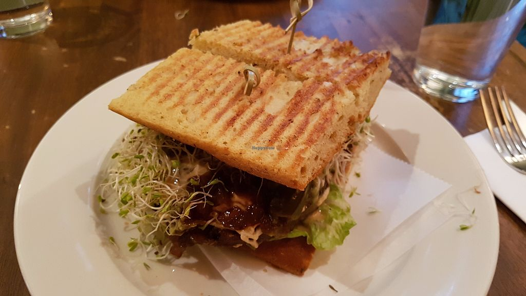 """Photo of Peacefood Cafe - Uptown  by <a href=""""/members/profile/JonJon"""">JonJon</a> <br/>Cheese burger <br/> July 28, 2017  - <a href='/contact/abuse/image/17713/285822'>Report</a>"""