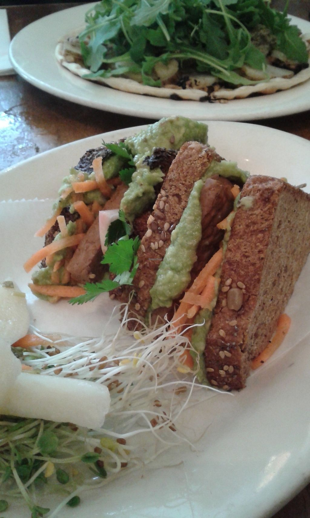 """Photo of Peacefood Cafe - Uptown  by <a href=""""/members/profile/Coralin"""">Coralin</a> <br/>Avocado and tempeh sandwich <br/> November 9, 2017  - <a href='/contact/abuse/image/17713/323582'>Report</a>"""