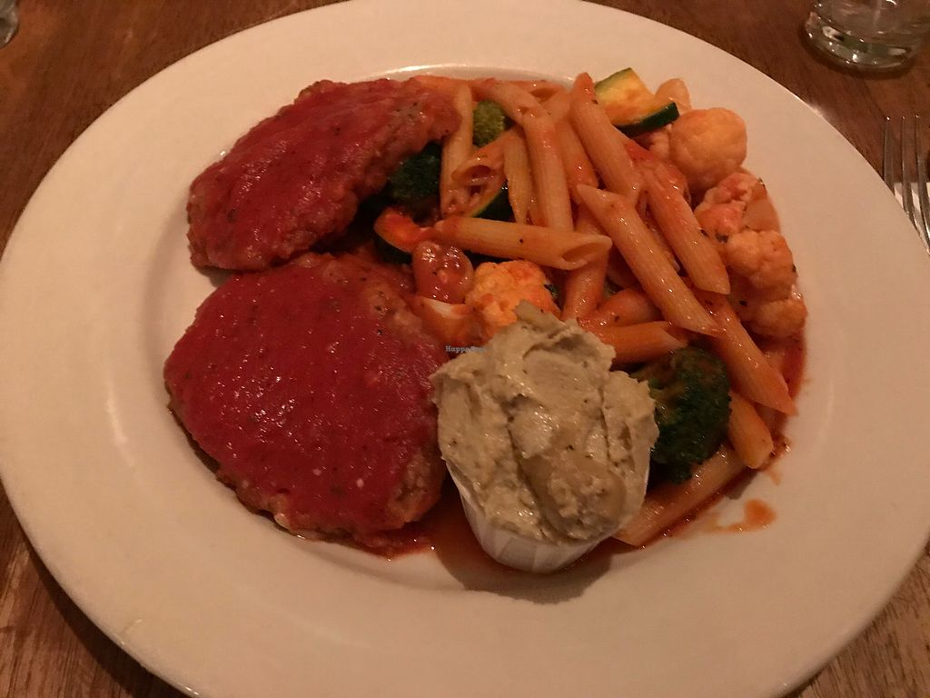 """Photo of Peacefood Cafe - Uptown  by <a href=""""/members/profile/DanielleNau"""">DanielleNau</a> <br/>Un-chicken Parmesan with cashew cheese instead of daiya <br/> December 14, 2017  - <a href='/contact/abuse/image/17713/335534'>Report</a>"""