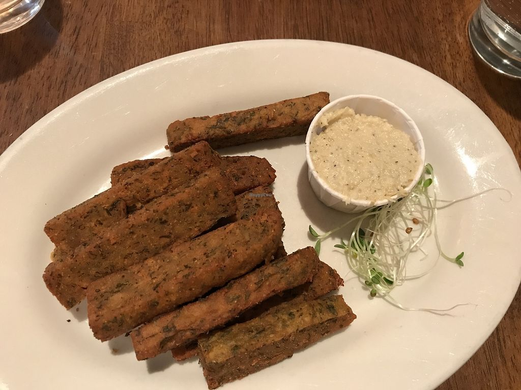 """Photo of Peacefood Cafe - Uptown  by <a href=""""/members/profile/Brok%20O.%20Lee"""">Brok O. Lee</a> <br/>Chickpea fries, aioli <br/> April 18, 2018  - <a href='/contact/abuse/image/17713/387754'>Report</a>"""