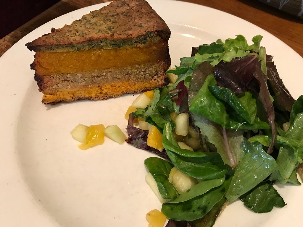 """Photo of Peacefood Cafe - Uptown  by <a href=""""/members/profile/Brok%20O.%20Lee"""">Brok O. Lee</a> <br/>3-layer vegan quiche <br/> April 18, 2018  - <a href='/contact/abuse/image/17713/387756'>Report</a>"""