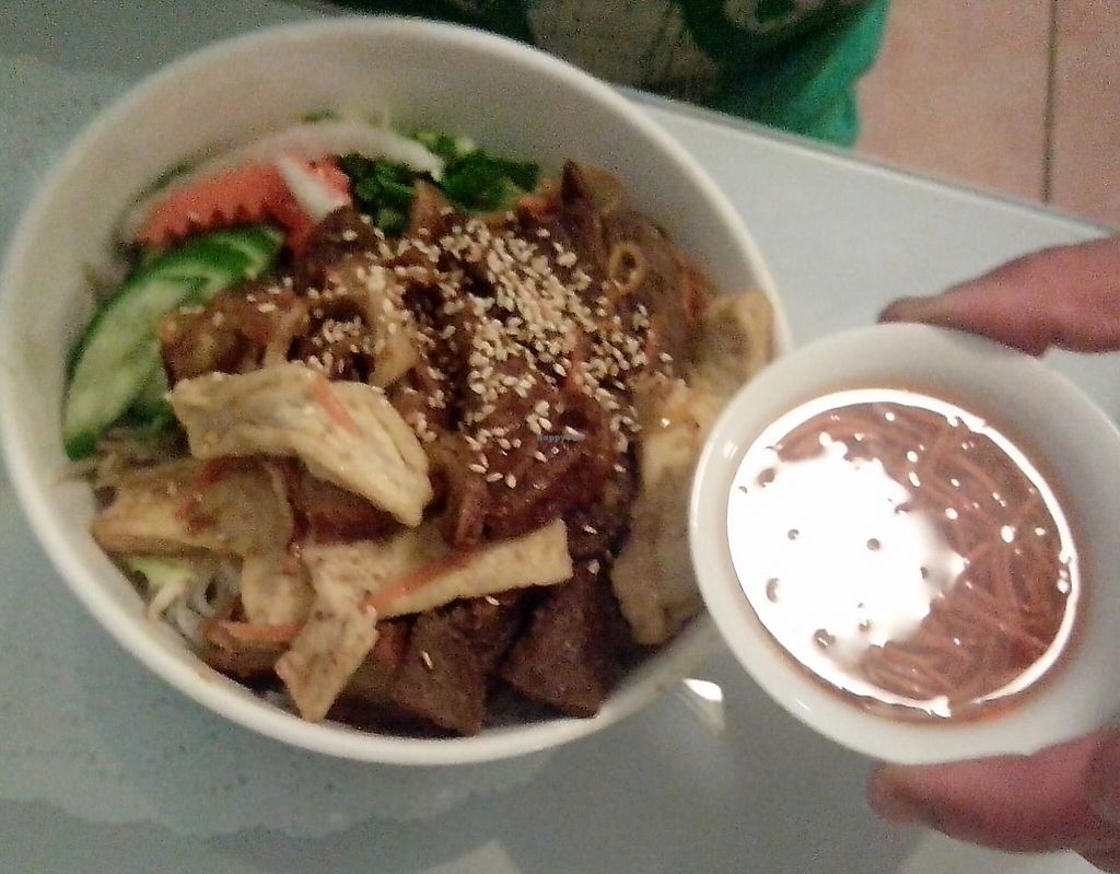 "Photo of Vina Vegan  by <a href=""/members/profile/nerida"">nerida</a> <br/>Lemongrass vermicelli with beef <br/> March 20, 2014  - <a href='/contact/abuse/image/17714/248137'>Report</a>"