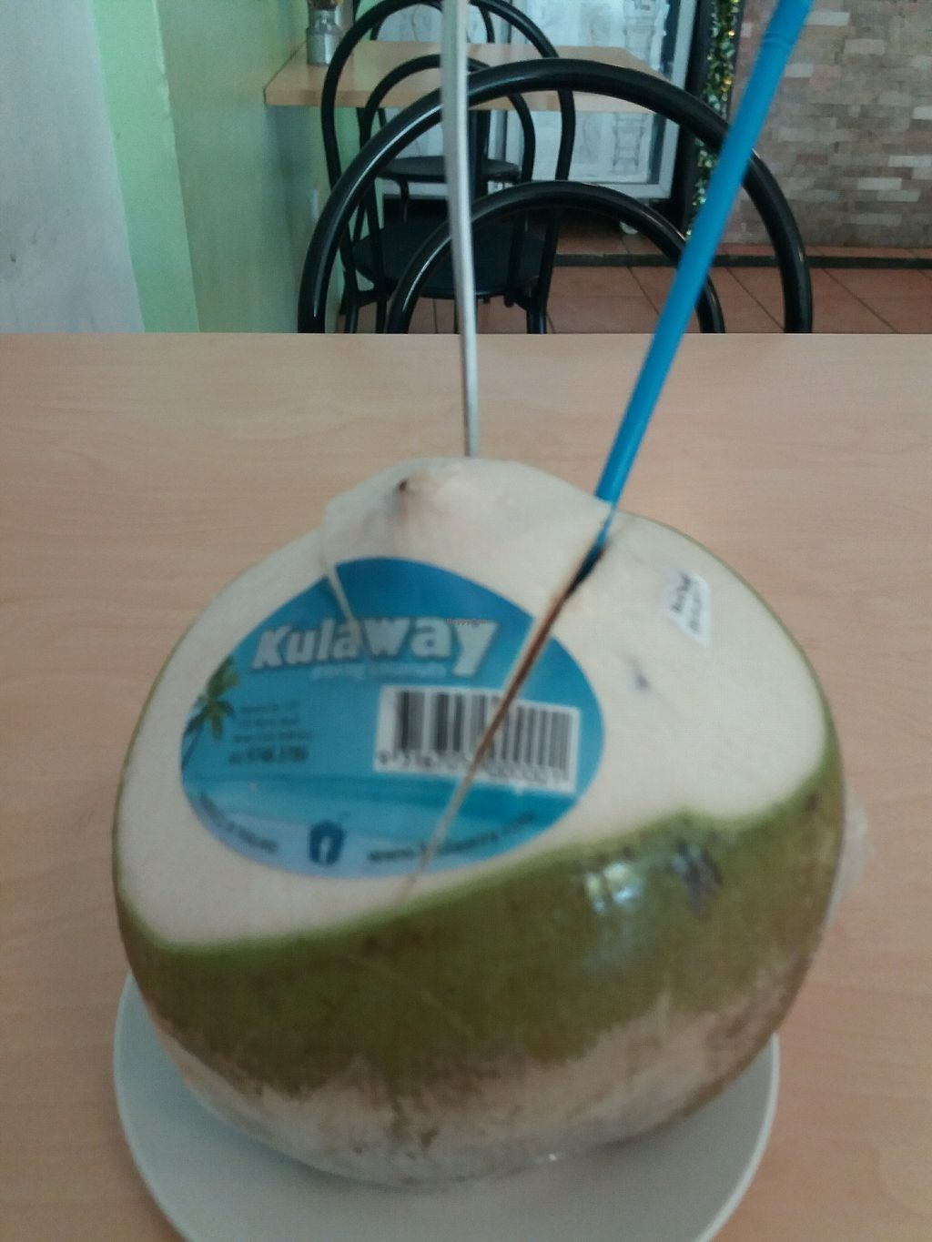 "Photo of Vina Vegan  by <a href=""/members/profile/veganvirtues"">veganvirtues</a> <br/>fresh coconut juice <br/> December 23, 2017  - <a href='/contact/abuse/image/17714/338264'>Report</a>"