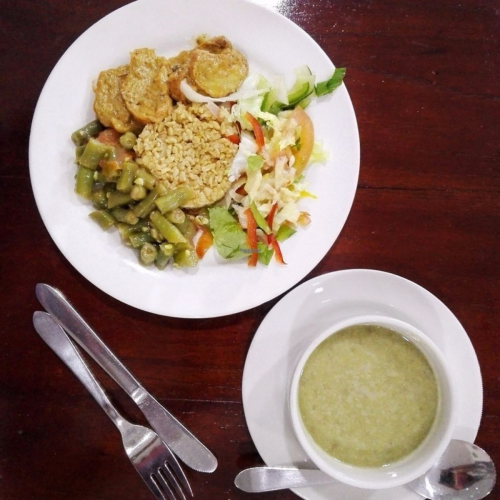 """Photo of Girasoles Restaurante Vegetariano  by <a href=""""/members/profile/wanderbeans"""">wanderbeans</a> <br/>Menu of the day - $10 000 COP <br/> March 17, 2017  - <a href='/contact/abuse/image/17721/237155'>Report</a>"""
