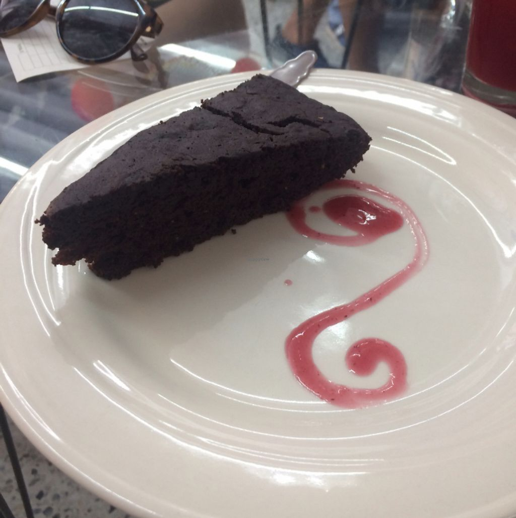 """Photo of Girasoles Restaurante Vegetariano  by <a href=""""/members/profile/caaroleiin"""">caaroleiin</a> <br/>vegan Chocolate cake very soft and delicious  <br/> May 3, 2017  - <a href='/contact/abuse/image/17721/255110'>Report</a>"""
