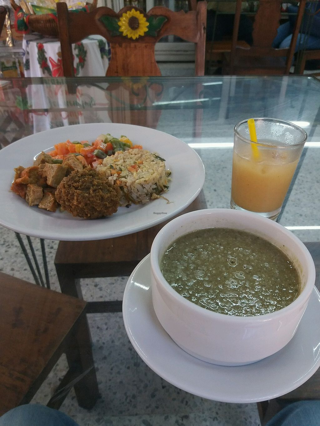 """Photo of Girasoles Restaurante Vegetariano  by <a href=""""/members/profile/TomK"""">TomK</a> <br/>Menu of the day for 10k COL  <br/> December 30, 2017  - <a href='/contact/abuse/image/17721/340931'>Report</a>"""