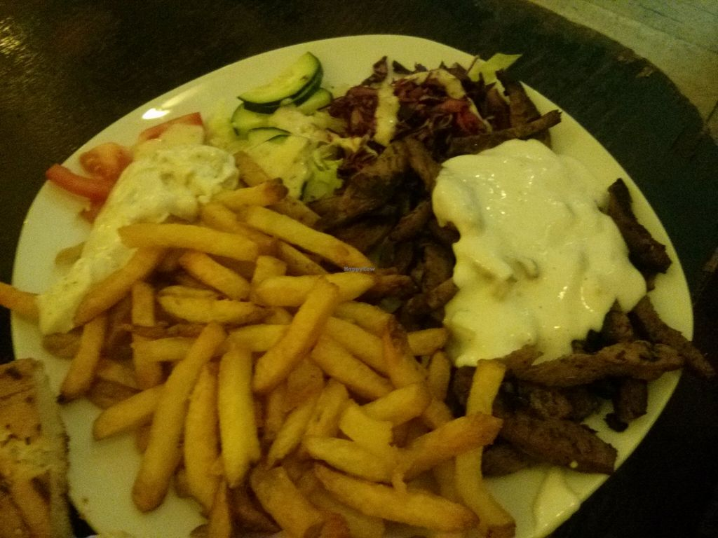 """Photo of Vleischerei  by <a href=""""/members/profile/hadasalex"""">hadasalex</a> <br/>gyros with chips! <br/> October 17, 2015  - <a href='/contact/abuse/image/17729/121631'>Report</a>"""