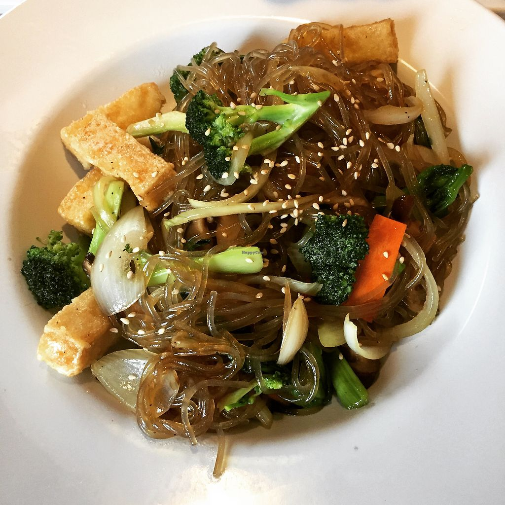 """Photo of Tofu Hut  by <a href=""""/members/profile/sarahburnsy"""" class=""""title__title"""">sarahburnsy</a> <br/>Vegan Korean Japchae <br/> February 18, 2018  - <a href='/contact/abuse/image/17744/360927'>Report</a>"""