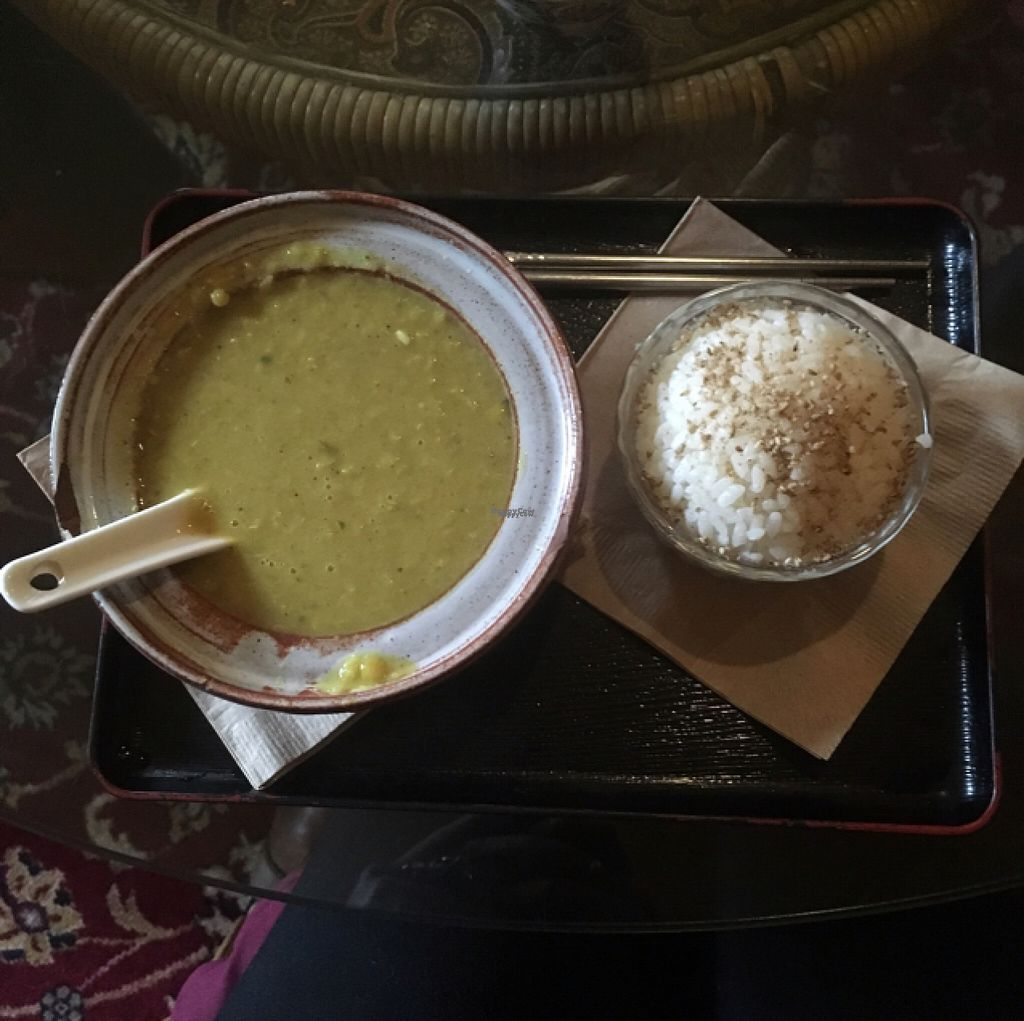 """Photo of Dobra Tea  by <a href=""""/members/profile/Mariarosekicks"""">Mariarosekicks</a> <br/>lentil soup and rice  <br/> November 6, 2016  - <a href='/contact/abuse/image/17748/186989'>Report</a>"""