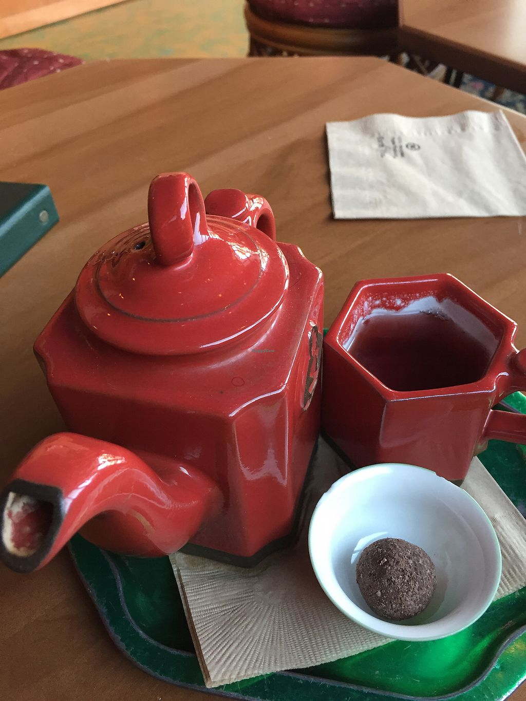 """Photo of Dobra Tea  by <a href=""""/members/profile/WolfPatrick"""">WolfPatrick</a> <br/>peppermint vegan truffle and eastern winds tea! <br/> November 28, 2017  - <a href='/contact/abuse/image/17748/330190'>Report</a>"""