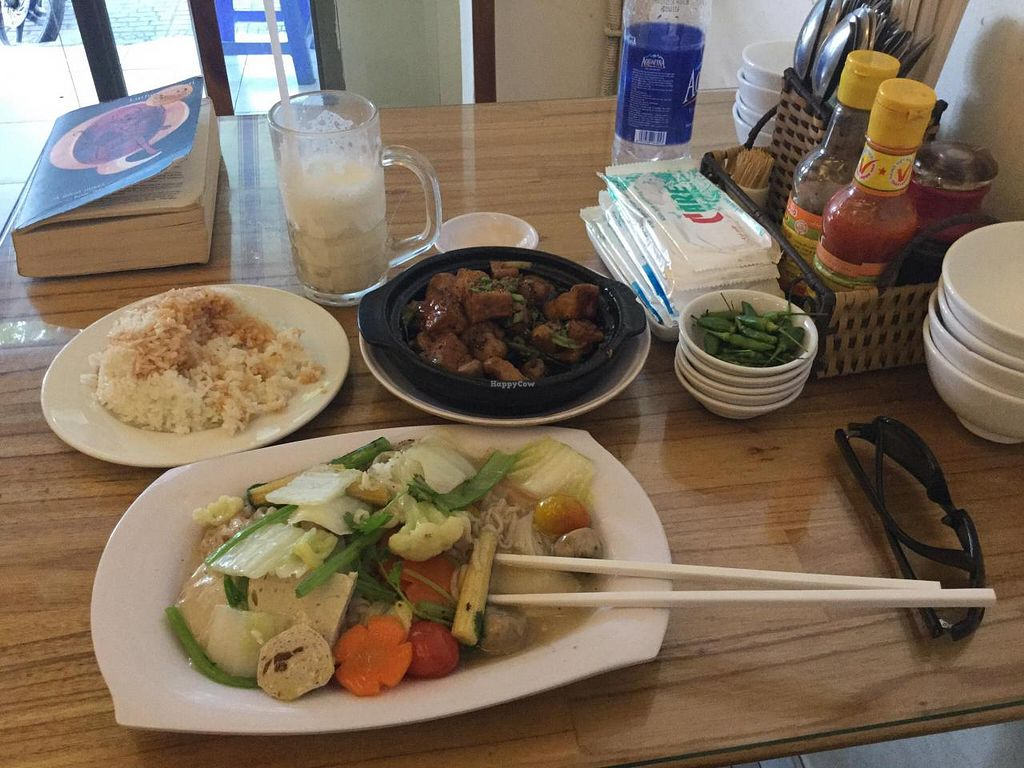 "Photo of Thien Duyen Ben Thanh  by <a href=""/members/profile/Malusi"">Malusi</a> <br/>Salt and pepper tofu, rice with soya sauce and vegetable noodles <br/> December 10, 2014  - <a href='/contact/abuse/image/17755/87602'>Report</a>"